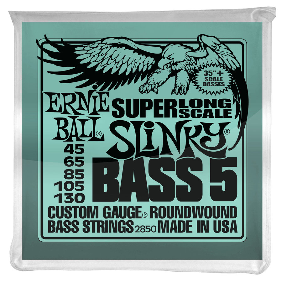 View larger image of Ernie Ball PO2850 Bass 5 Slinky Super Long Scale Electric Bass Guitar Strings