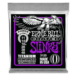 Ernie Ball PO3120 Power Slinky RPS Coated Titanium Electric Guitar Strings