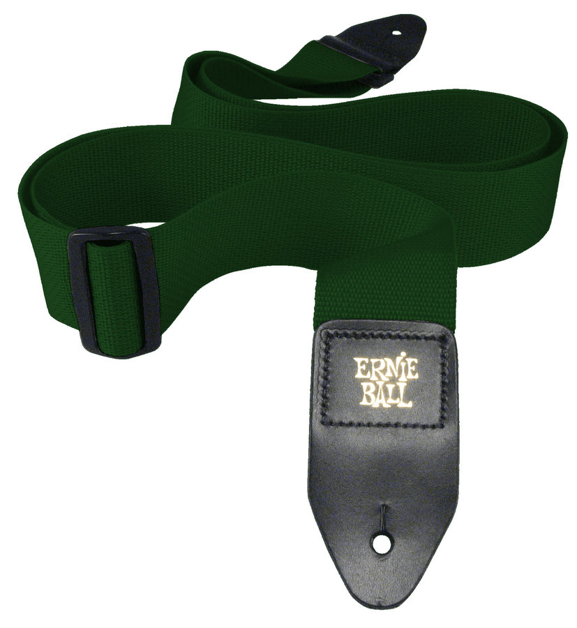 View larger image of Ernie Ball Polypro Guitar Strap - Forest Green