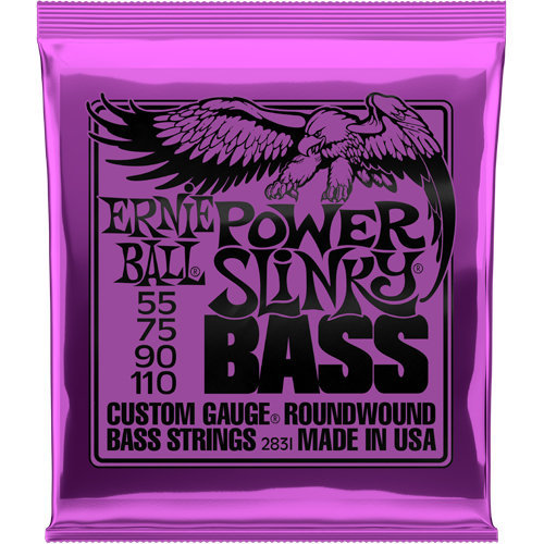 View larger image of Ernie Ball Power Slinky Nickel Wound Electric Bass Guitar Strings - 55-110 Gauge