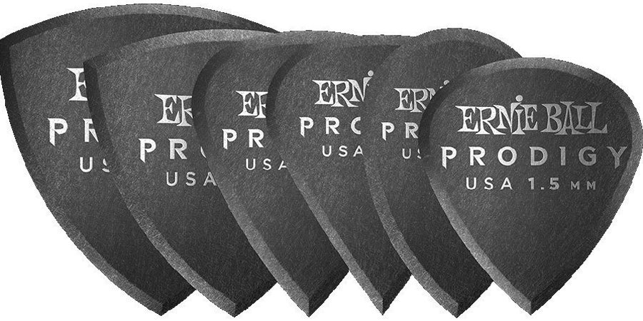 View larger image of Ernie Ball Prodigy Picks - 1-1/2 mm, Black, 6 Pack