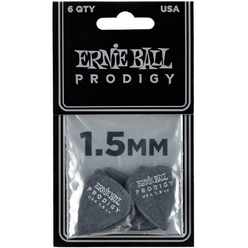 View larger image of Ernie Ball Prodigy Picks - 1-1/2 mm, Standard, Black, 6 Pack