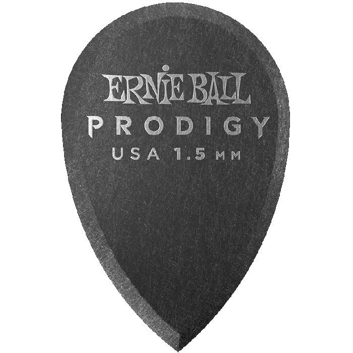 View larger image of Ernie Ball Prodigy Picks - 1-1/2 mm, Teardrop, Black, 6 Pack