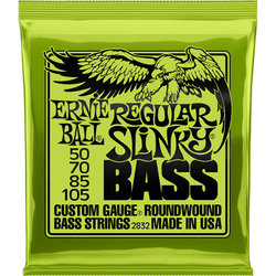 Ernie Ball Regular Slinky Nickel Wound Electric Bass Guitar Strings - 50-105 Gauge