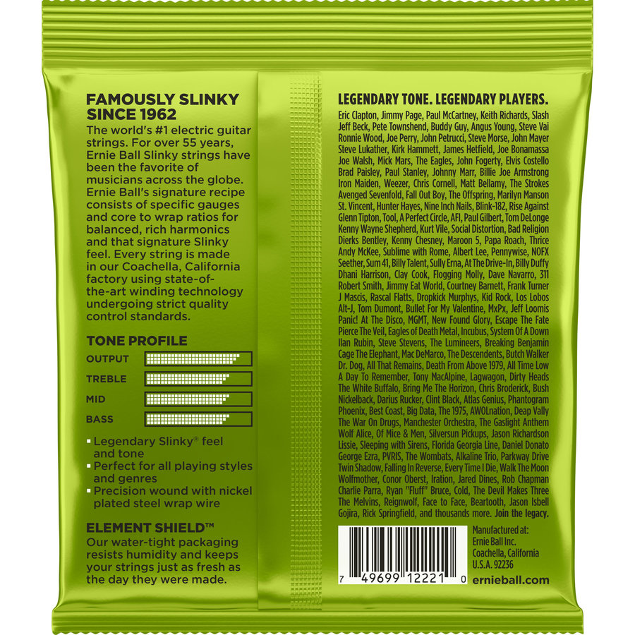 View larger image of Ernie Ball Regular Slinky Nickel Wound Electric Guitar Strings - 10-46