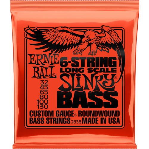 View larger image of Ernie Ball Slinky 6-String Nickel Wound Bass Guitar Strings - Long, 32-130