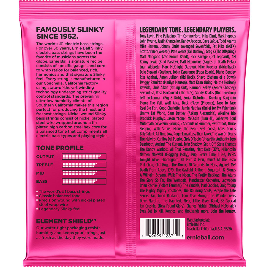 View larger image of Ernie Ball Super Slinky 5-String Nickel Wound Electric Bass Guitar Strings - 40-125 Gauge