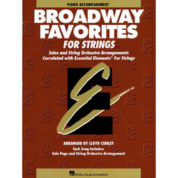 Essential Elements Broadway Favorites for Strings – Piano Accompaniment