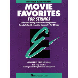 Essential Elements Movie Favorites for Strings - Percussion