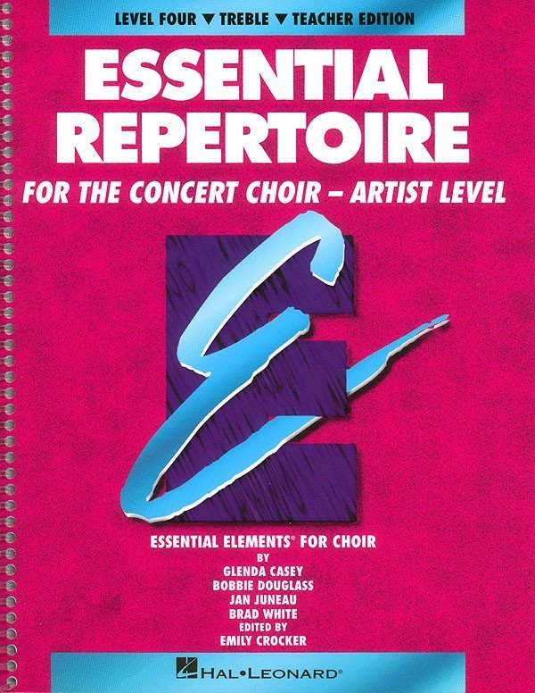 View larger image of Essential Repertoire For The Concert Choir Artist Level 4 - Treble Teacher