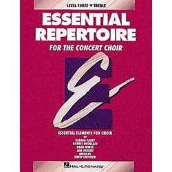 Essential Repertoire for the Concert Choir Level 3 Treble - Performance/Accompaniment CD