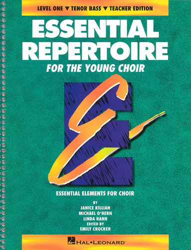 View larger image of Essential Repertoire for the Young Choir Level 1 - Tenor & Bass - Teacher