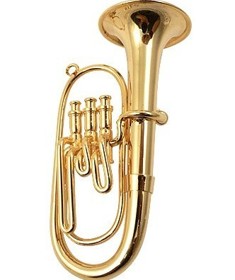 View larger image of Euphonium Ornament - Gold, 3-3/4