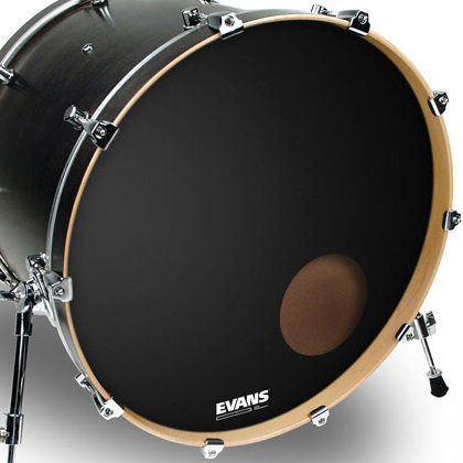 View larger image of Evans BD20RB 20 EQ3 Black Bass Drumhead