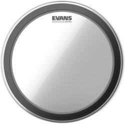 """Evans EMAD Bass Drumhead - 22"""", Clear"""