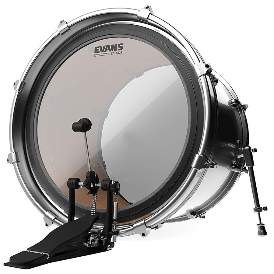 """View larger image of Evans EMAD 2 Bass Drumhead - 22"""", Clear"""