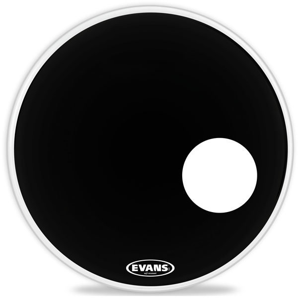 View larger image of Evans BD22RB EQ3 Black Bass Head - 22