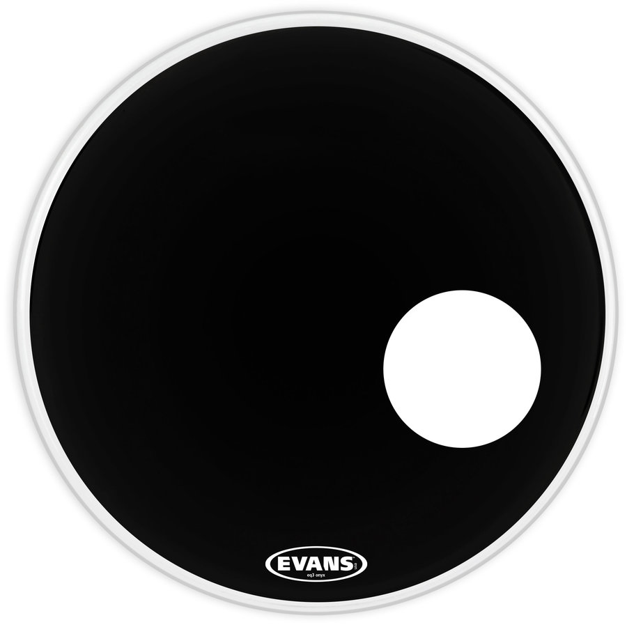 View larger image of Evans BD24RONX 24 EQ3 Onyx Bass Drumhead