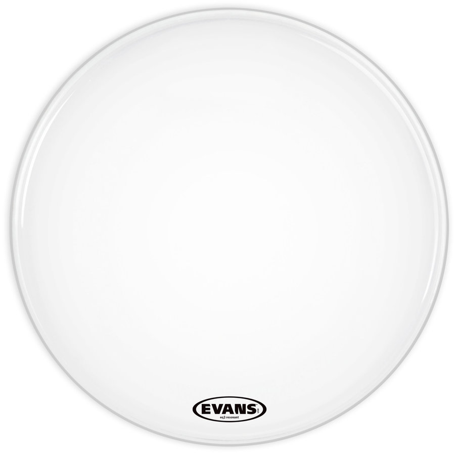 View larger image of Evans BD24RSW-NP 24 EQ3 Smooth White Bass No Port Drumhead