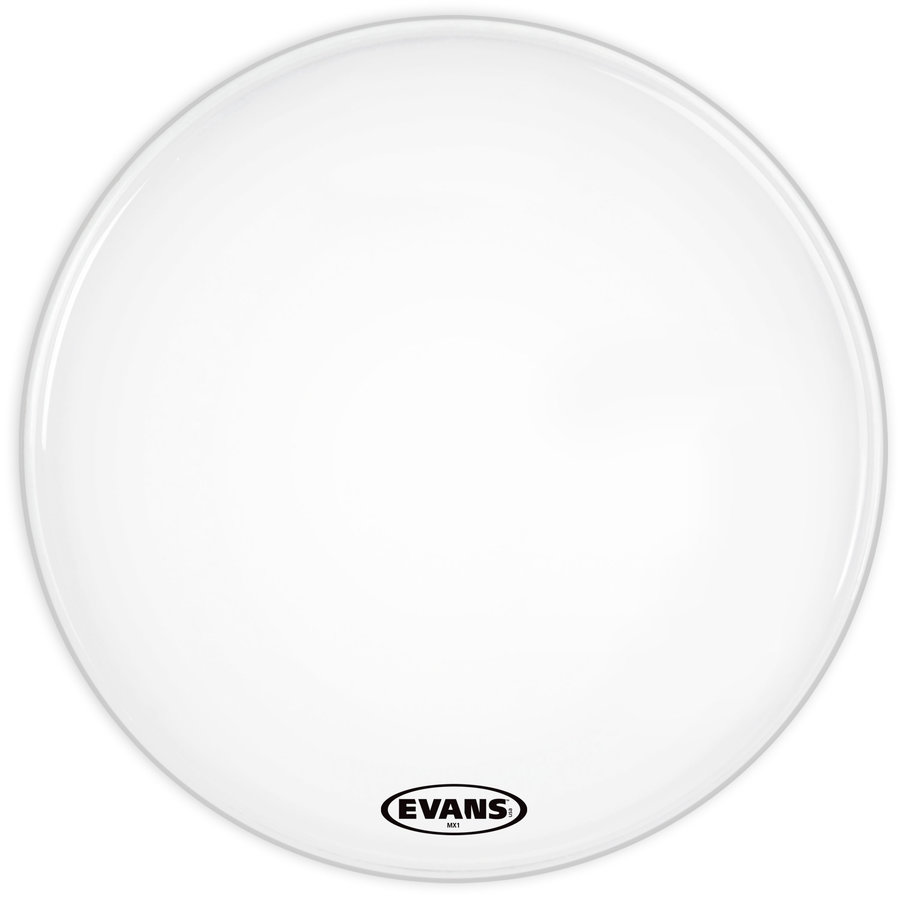 View larger image of Evans BD30MX1W 30 MX1 White Bass Drum Head