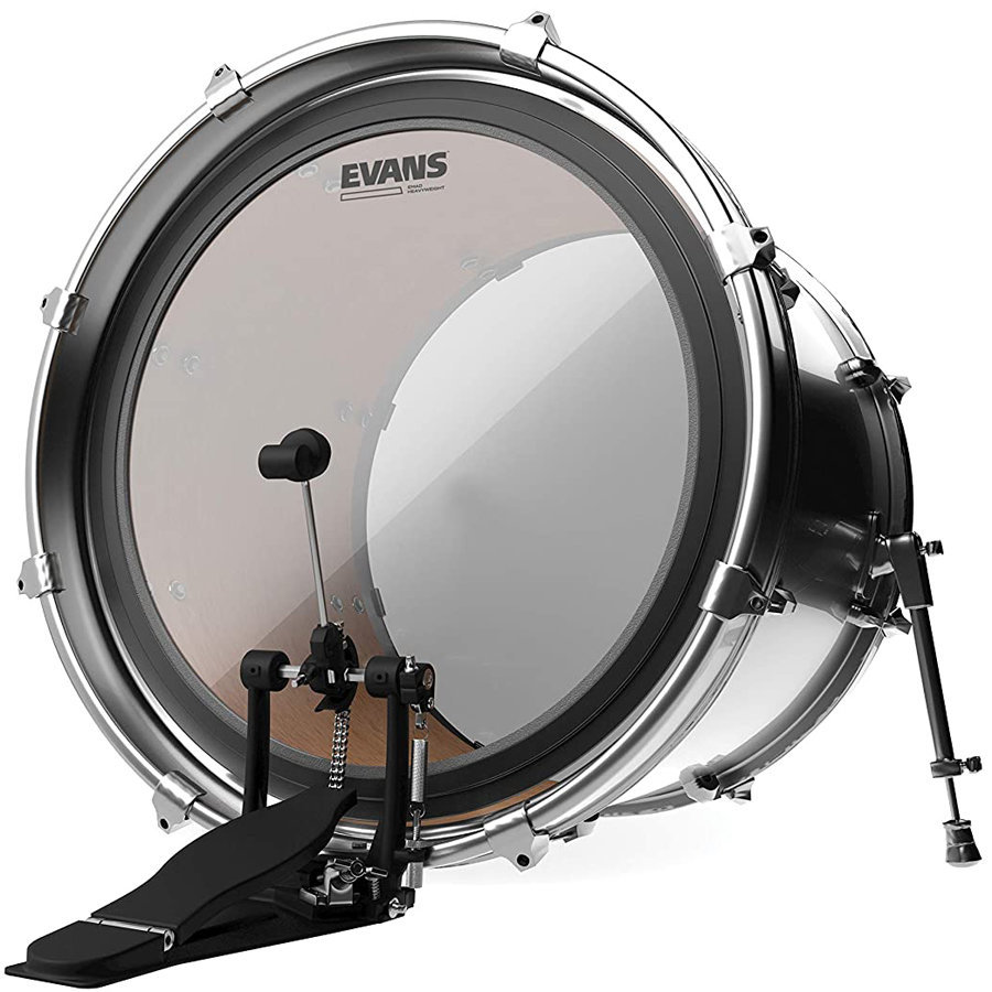 """View larger image of Evans EMAD Heavyweight Bass Drumhead - 22"""", Clear"""