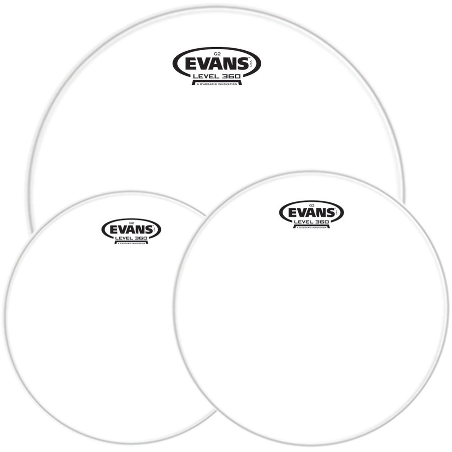 View larger image of Evans G2 Clear Rock Drumhead Pack