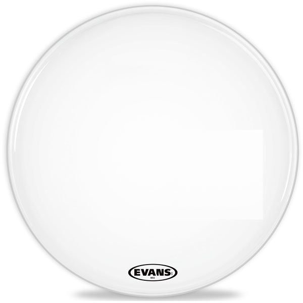 View larger image of Evans MX2 White Bass Drum Head - 32