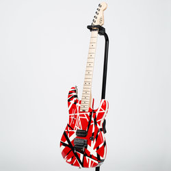 EVH Striped Series Electric Guitar - Red with Black Stripes
