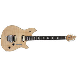 EVH Wolfgang USA with 5A Flame Top Electric Guitar - Ebony, Natural