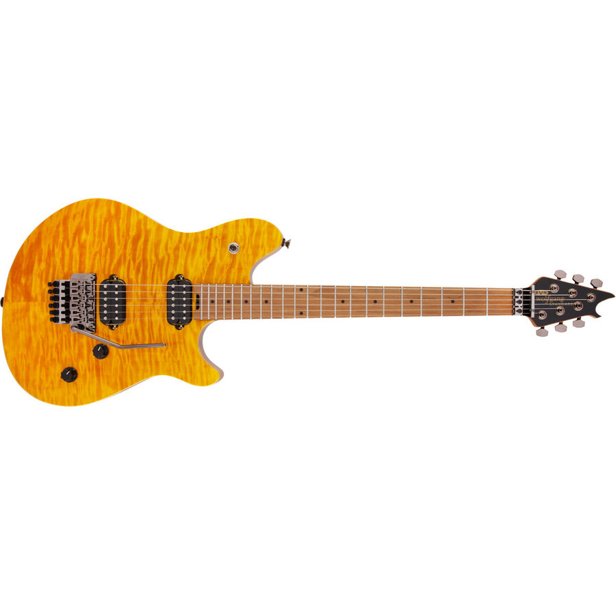 View larger image of EVH Wolfgang WG Standard Quilt Maple Electric Guitar - Transparent Amber