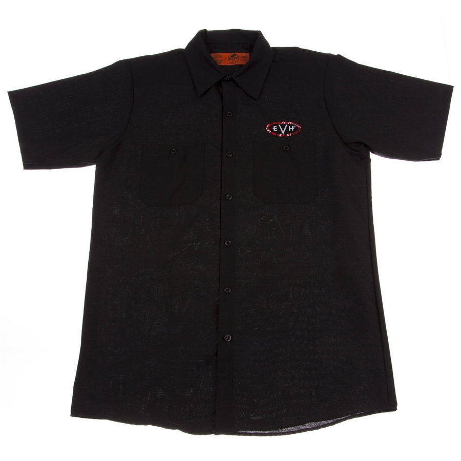View larger image of EVH Woven Work Shirt - Black, Medium