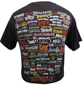 View larger image of Famous Headbangers T-Shirt - Black, Large