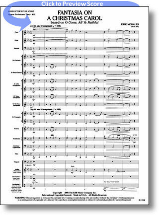 View larger image of Fantasia on a Christmas Carol - Score & Parts, Grade 2.5