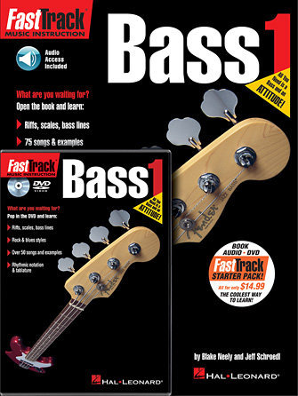 View larger image of FastTrack Bass Method Book 1 - Starter Pack w/Online Audio & DVD