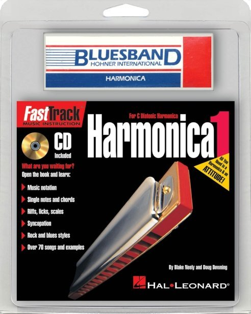 View larger image of FastTrack Mini Harmonica Pack - (Book/CD/Harmonica)