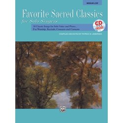 Favorite Sacred Classics for Solo Singers - Med Low w/CD