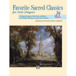 Favorite Sacred Classics for Solo Singers - Medium High wCD