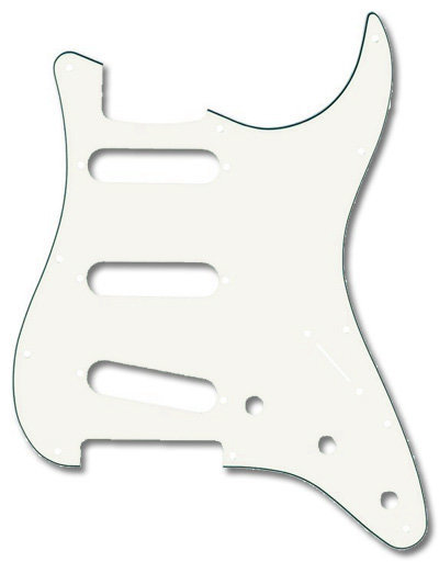 View larger image of Fender 11-Hole Mount SSS Stratocaster Pickguard - 3 Ply, Parchment
