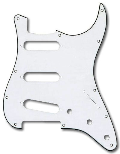 View larger image of Fender 11-Hole Mount SSS Stratocaster Pickguard - 3 Ply, White
