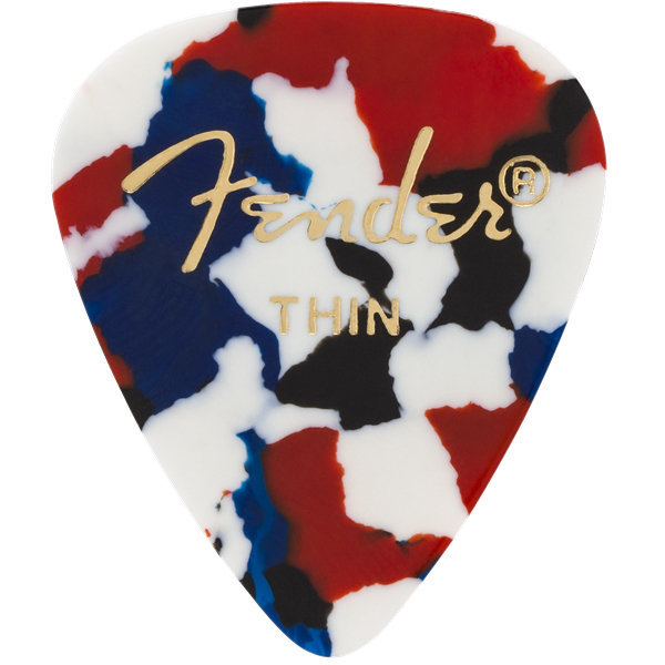 View larger image of Fender Classic Picks - Thin, 351 Shape, Shell, 12 Pack