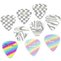 Fender Graphic Picks - Thin, 351 Shape, Rainbow, 12 Pack
