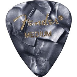 Fender Premium Picks - Medium, 351 Shape, Black Moto, 12 Pack