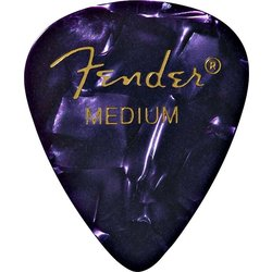 Fender Premium Picks - Medium, 351 Shape, Purple Moto, 12 Pack