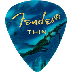 Fender Premium Picks - Thin, 351 Shape, Ocean Turquoise, 12 Pack