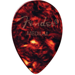 Fender Classic Celluloid Picks - Medium, 358 Shape, Shell, 12 Pack