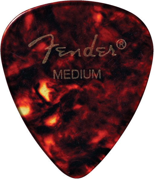 View larger image of Fender Classic Celluloid Picks - Medium, 451 Shape, Shell, 12 Pack