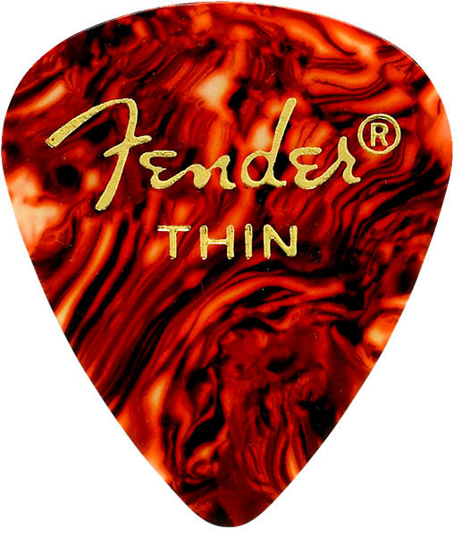 View larger image of Fender Classic Celluloid Picks - Thin, 451 Shape, Shell, 12 Pack
