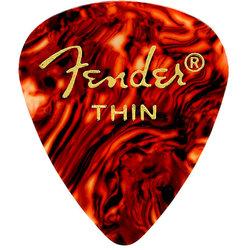 Fender Classic Celluloid Picks - Thin, 451 Shape, Shell, 12 Pack