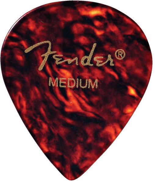 View larger image of Fender Classic Celluloid Picks - Medium, 551 Shape, Shell, 12 Pack