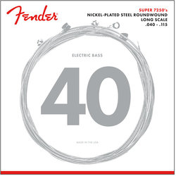 Fender 7250 Bass 5-String Strings - Long, Nickel-Plated Steel Roundwood, 40-115